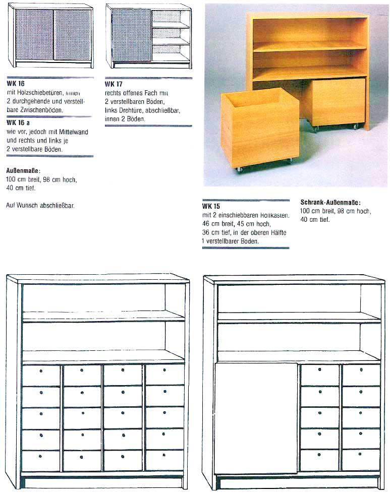 Regalschränke mit Schubkästen und Rollcontainern | Schönauer